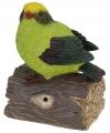 Groen decoratie vogeltje met geluid